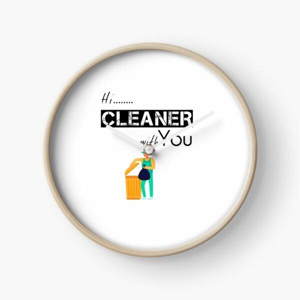 Cleaner gift - Street Cleaner -  Housekeeping Cleaner - Clearning Housekeeping - Gift For Cleaner  Clock