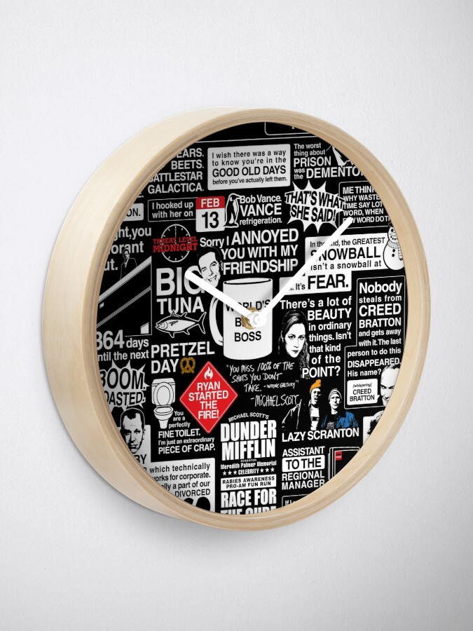 Alternate view of Wise Words From The Office - The Office Quotes Clock