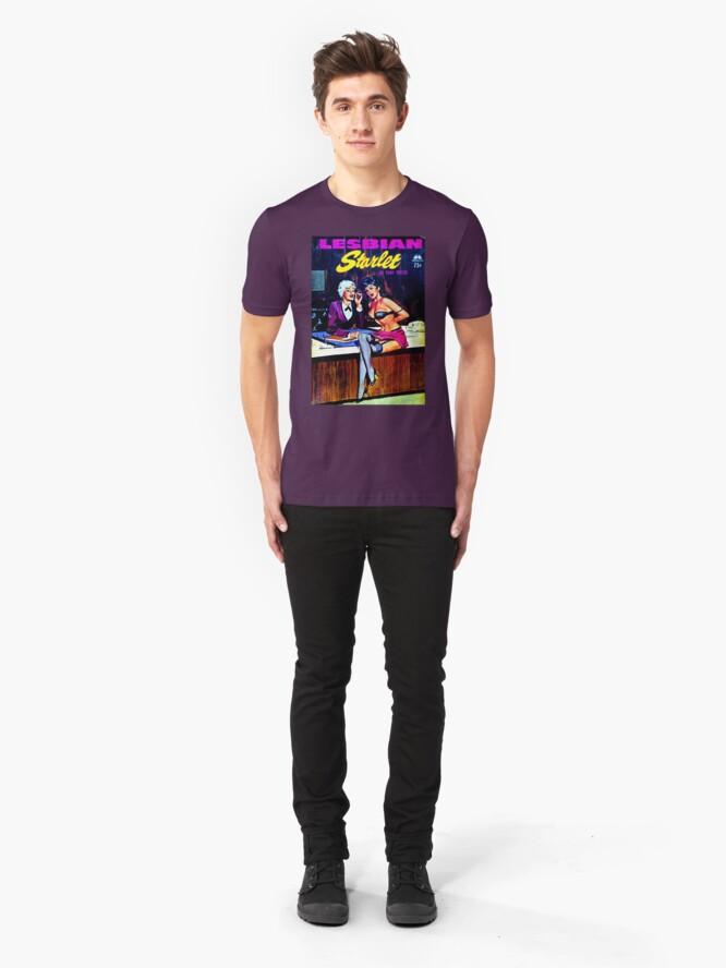 "Alternate view of ""Lesbian Starlet"" Slim Fit T-Shirt"