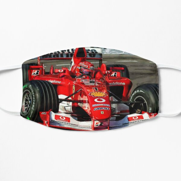 Michael Schumacher in his 2004 F1 car Mask