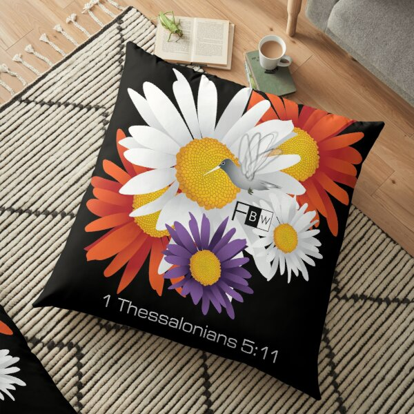 Encourage Floral Floor Pillow