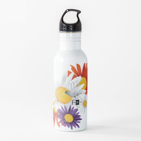 Encourage Floral Water Bottle