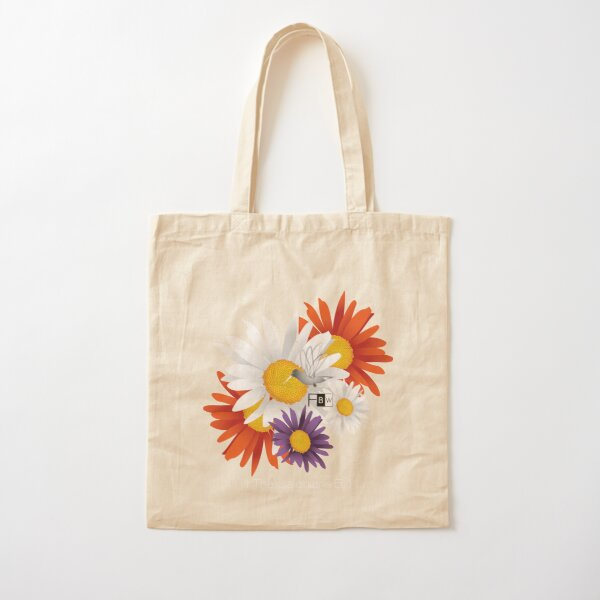 Encourage Floral Cotton Tote Bag