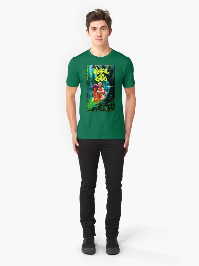 """Alternate view of """"Student In Lesbos"""" Slim Fit T-Shirt"""