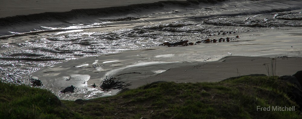 Apollo Bay Creek and beach 20130607 5254  by Fred Mitchell