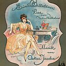 EIN BILLETDOUX  (vintage illustration) by ART INSPIRED BY MUSIC