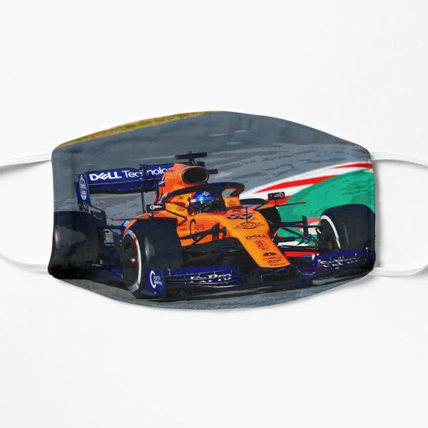 Carlos Sainz au volant de sa F1 2019 Masque sans plis
