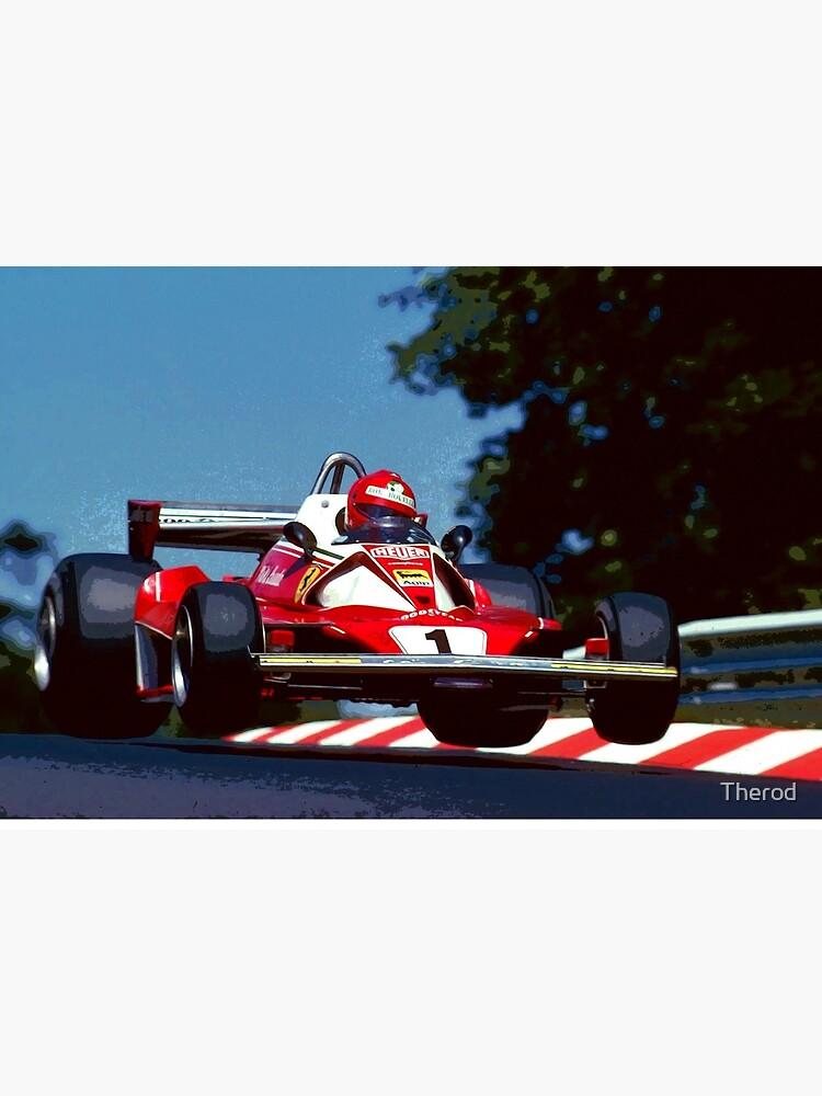 «Niki Lauda saute dans sa voiture de Formule 1 de 1976» par Therod
