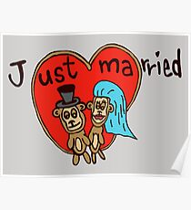 just married monkeys Poster