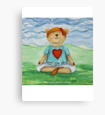 Live Love Yoga Bear  Canvas Print