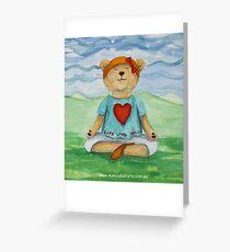 Live Love Yoga Bear  Greeting Card