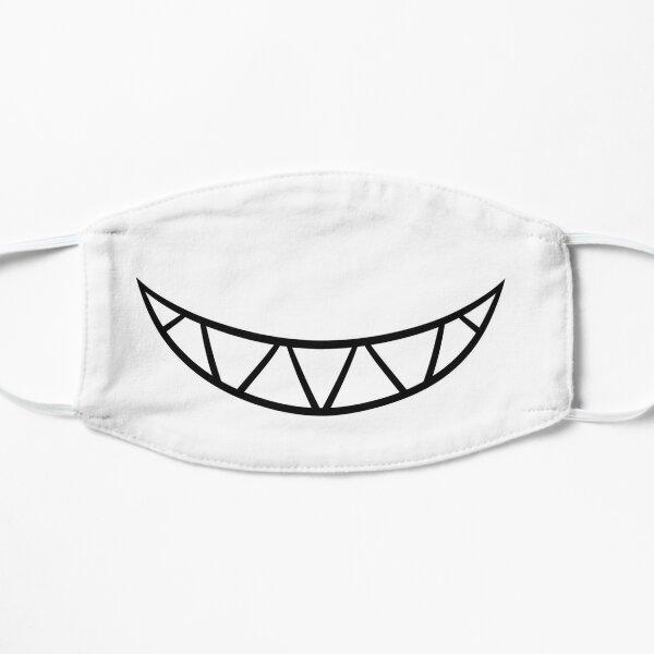 White Smiley Flat Mask