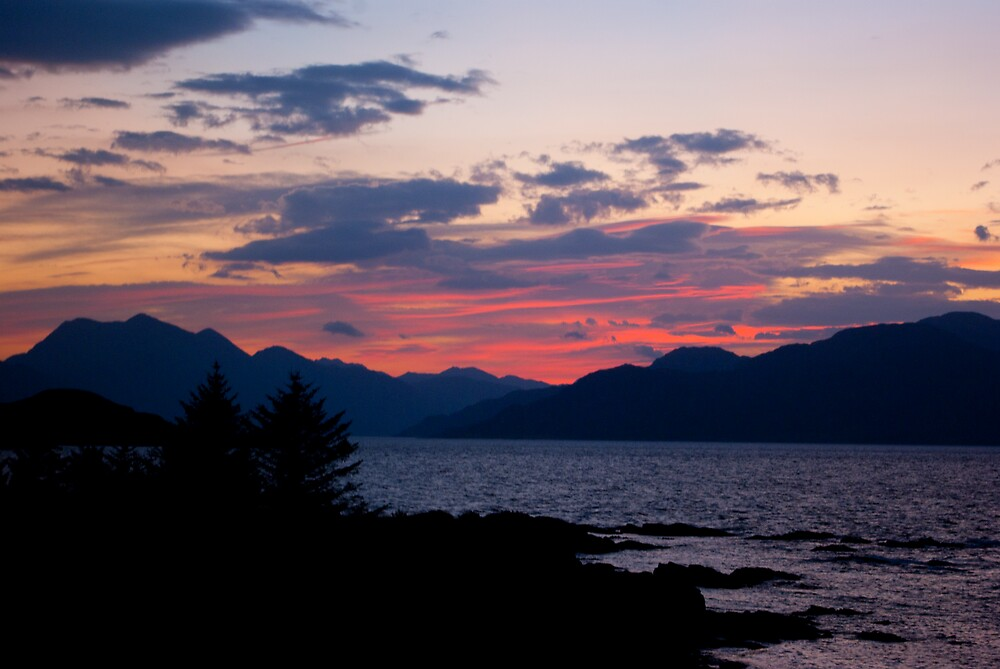 Sunset over the Loch by Kevin Cartwright