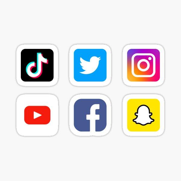 Social Media Applications Icons  Sticker
