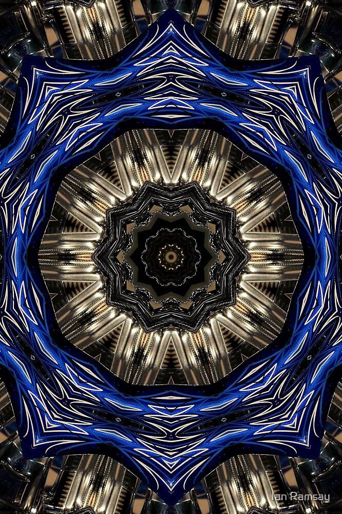 Blue sprocket. by Ian Ramsay