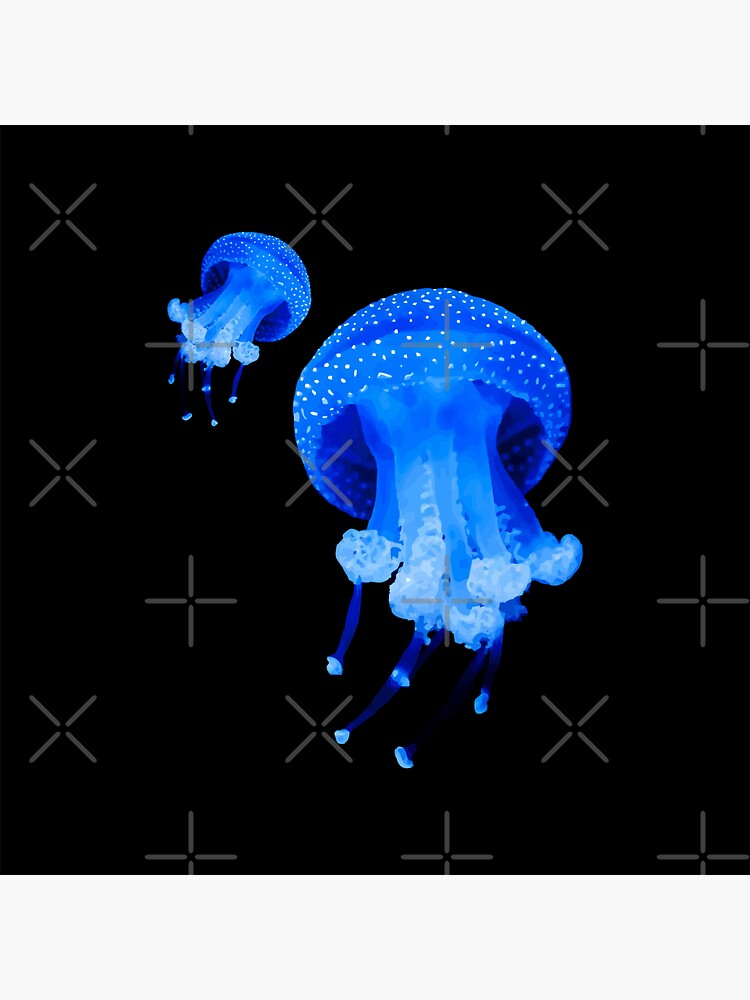 Azure Blue Jelly Fish by carlarmes