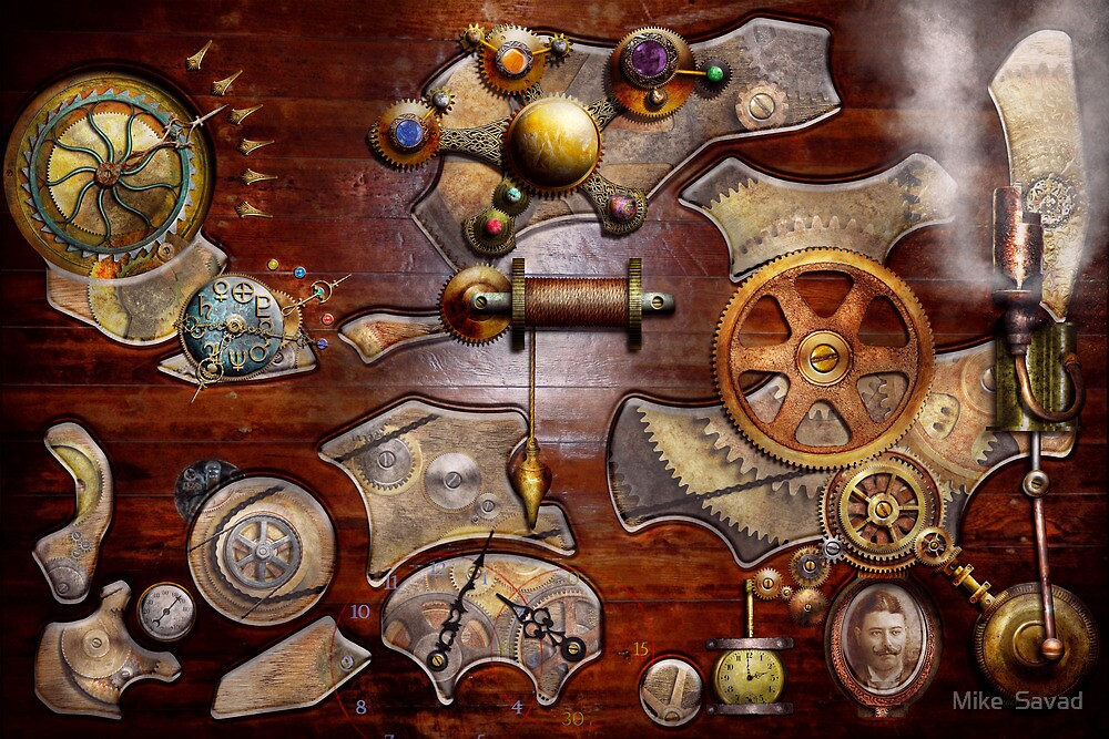 Steampunk - Gears - Reverse engineering by Michael Savad
