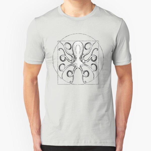Vintage Octopus Slim Fit T-Shirt