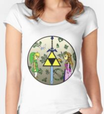 Hyrule Historia Women's Fitted Scoop T-Shirt