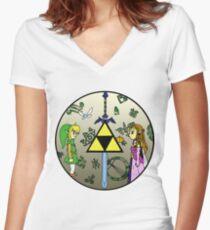 Hyrule Historia Women's Fitted V-Neck T-Shirt