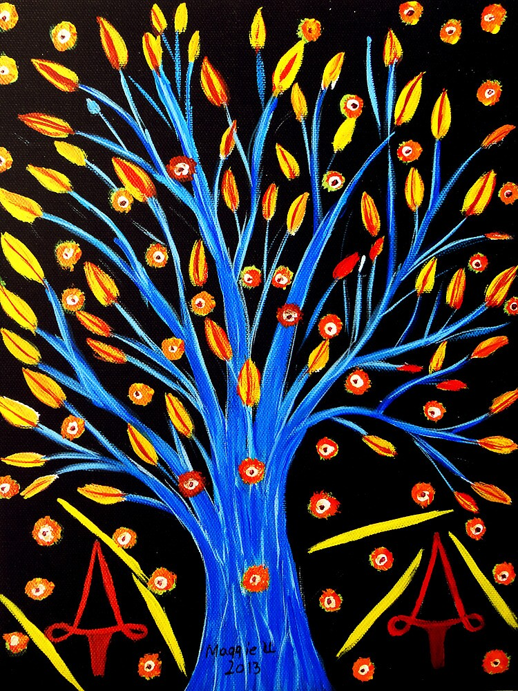 Blue tree/abstract by maggie326