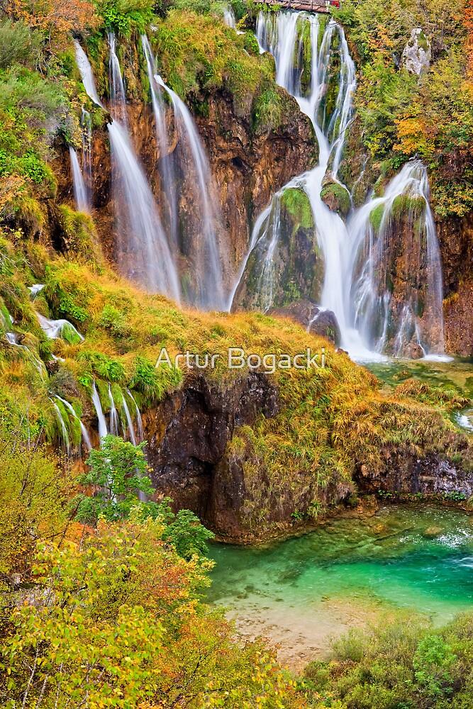 Autumn Waterfalls by Artur Bogacki