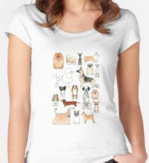 Camiseta entallada de cuello redondo Perros