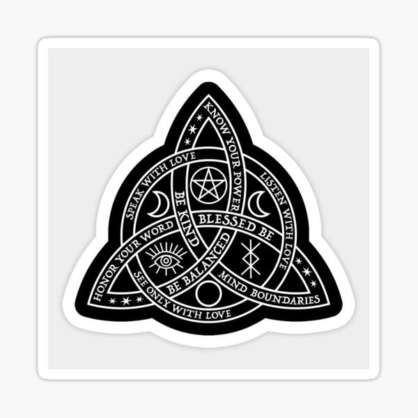 Celtic Witches Knot Protection Sigil Sticker