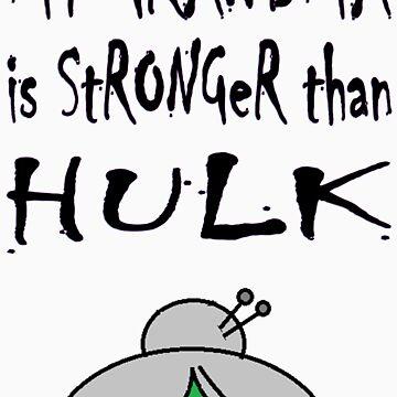 My Grandma Is Stronger Than Hulk by StefanoSimoni