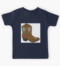 Cowboy Boots Short Kids Tee