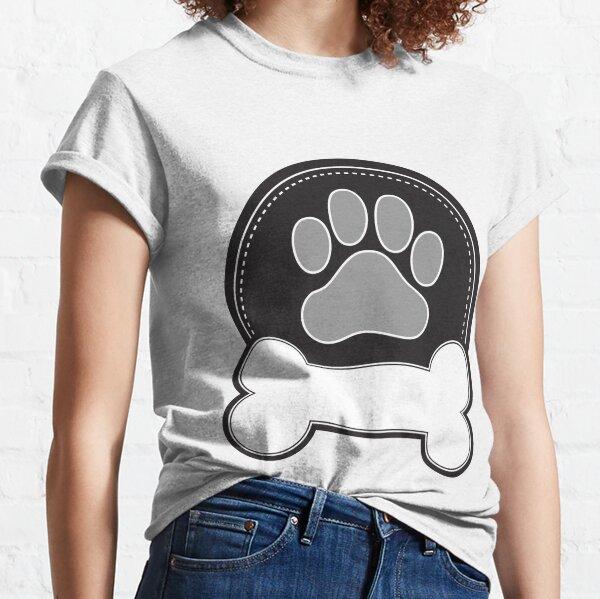 Dog Bone and Paw Classic T-Shirt