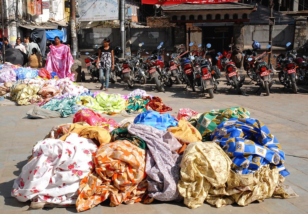Colourful street market in Kathmandu by walkda