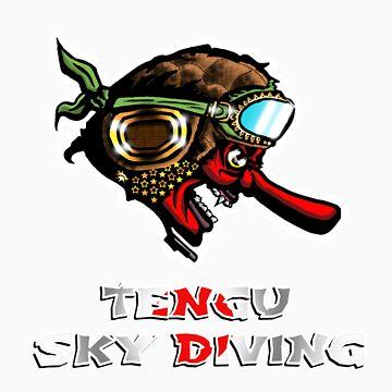 Tengu Sky Diving by CerberusAzdin