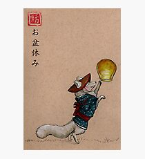 Obon Yasumi Kitsune Print Photographic Print