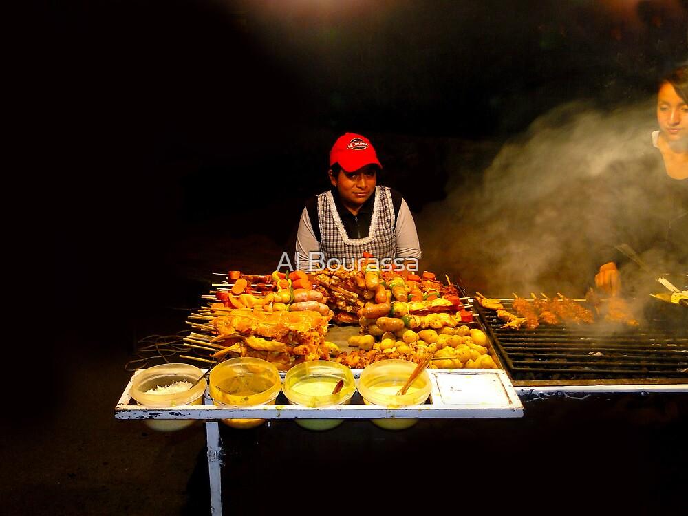 Ecuador Street Meat Vendors by Al Bourassa