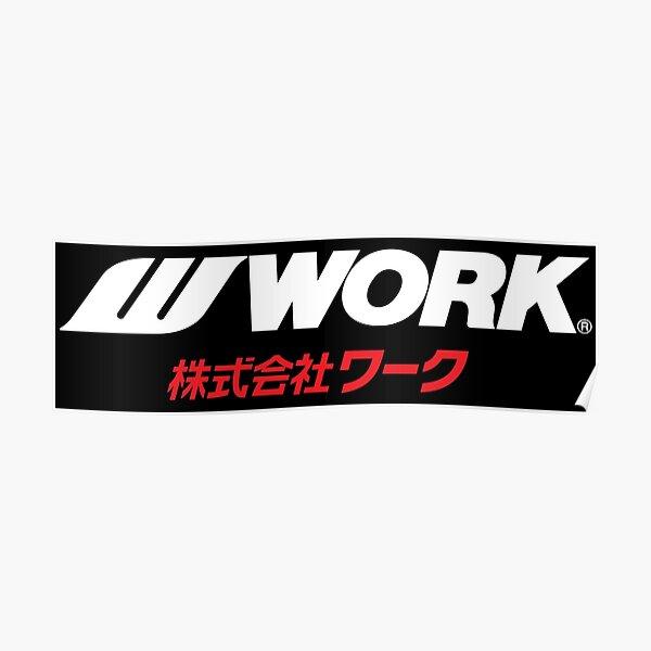 Work Wheels Japan Poster