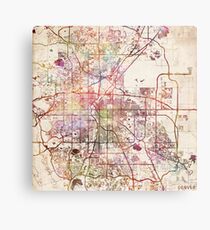 Denver map Metal Print