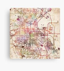 Denver map Canvas Print