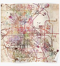 Denver Street Map: Posters   Redbubble