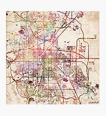 Denver map Photographic Print