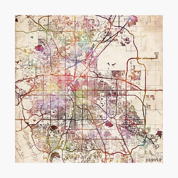 Denver Karte Fotodruck