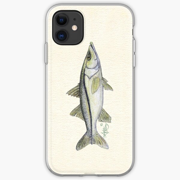 """""""Snook"""" by Amber Marine ~ watercolor fish art, © 2013 iPhone Soft Case"""