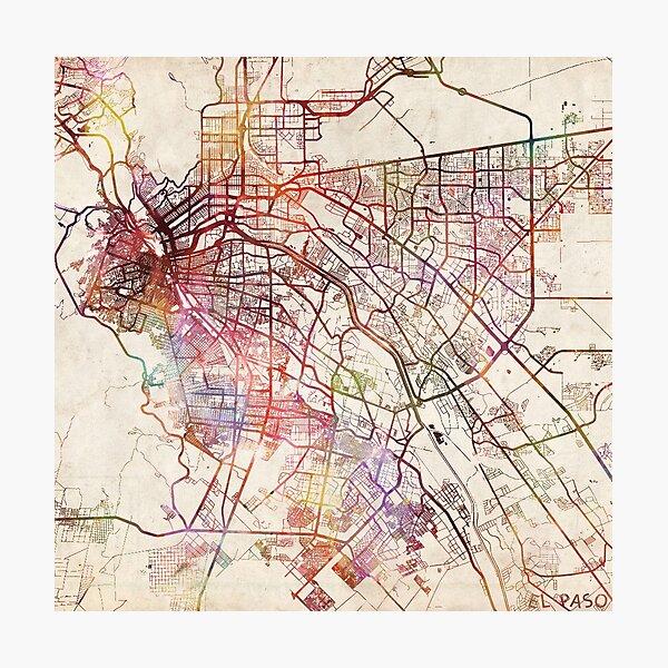 El Paso Karte Fotodruck