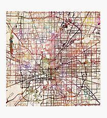 Indianapolis map Photographic Print