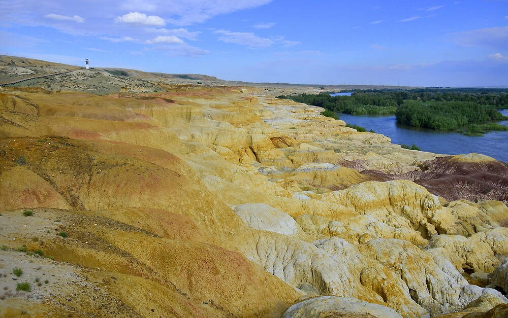 Colorful Shore of Irtysh River  by Brian Bo Mei