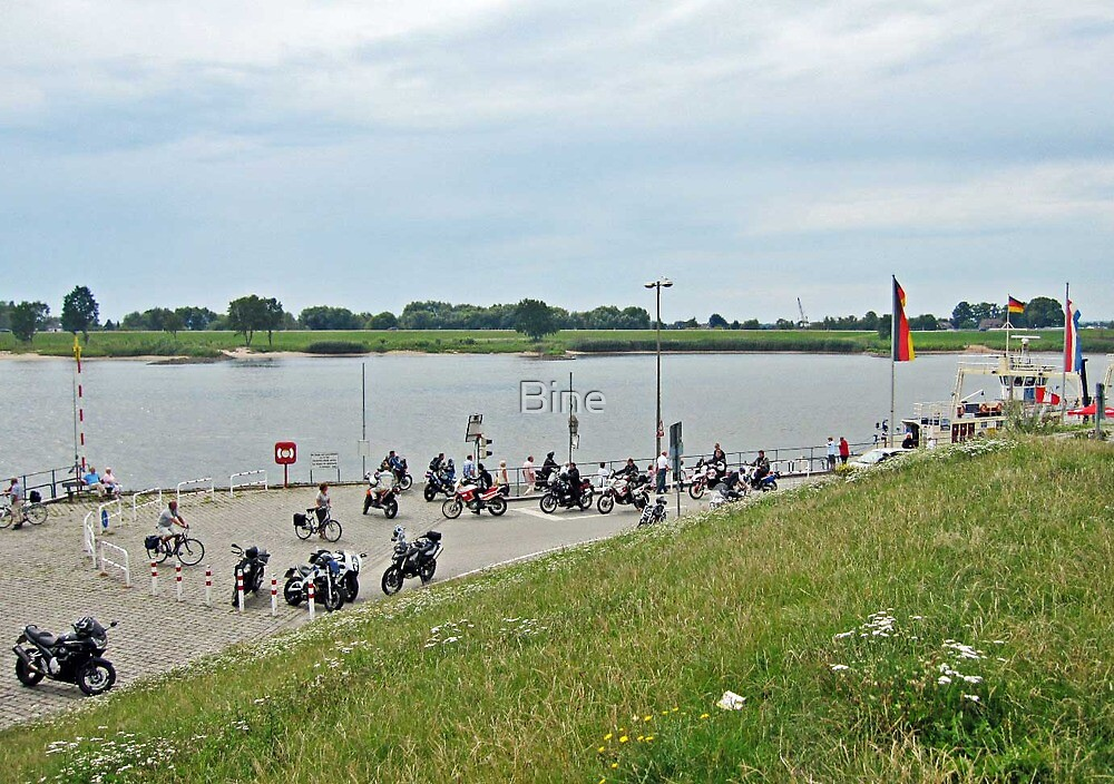 Waiting for the Elbe Ferry, Hamburg - Germany by Bine