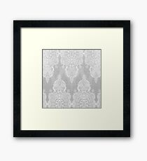Lace & Shadows 2 - Monochrome Moroccan doodle Framed Print