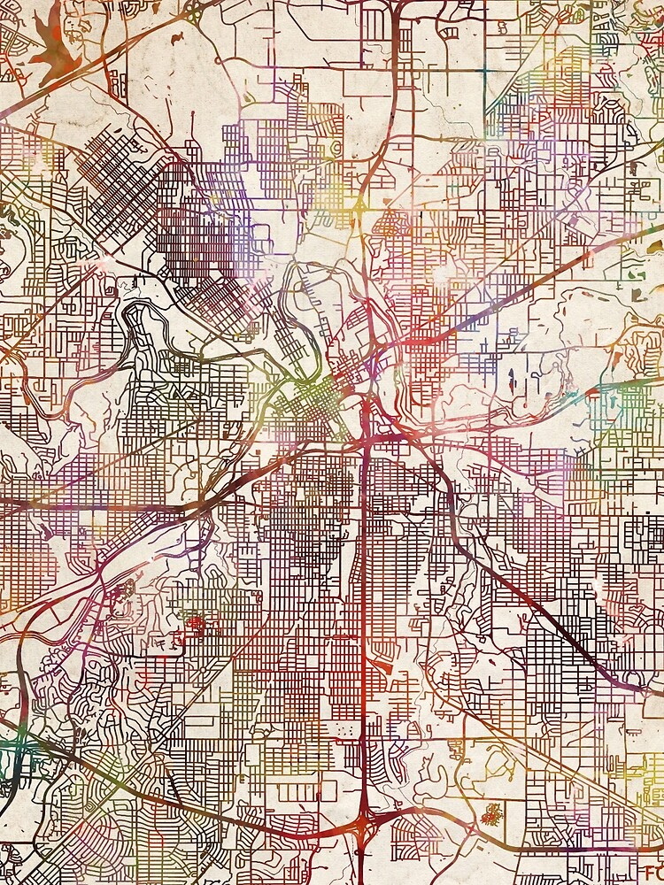 Fort Worth by MapMapMaps