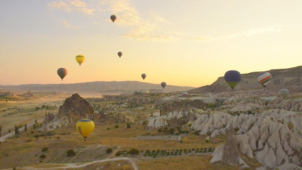 Balloon - Filled Sky   by Brian Bo Mei