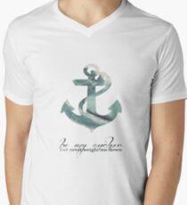 Anchors Aweigh Mens V-Neck T-Shirt